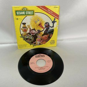 Vtg Sesame Street Vinyl Record Sing and The Happie